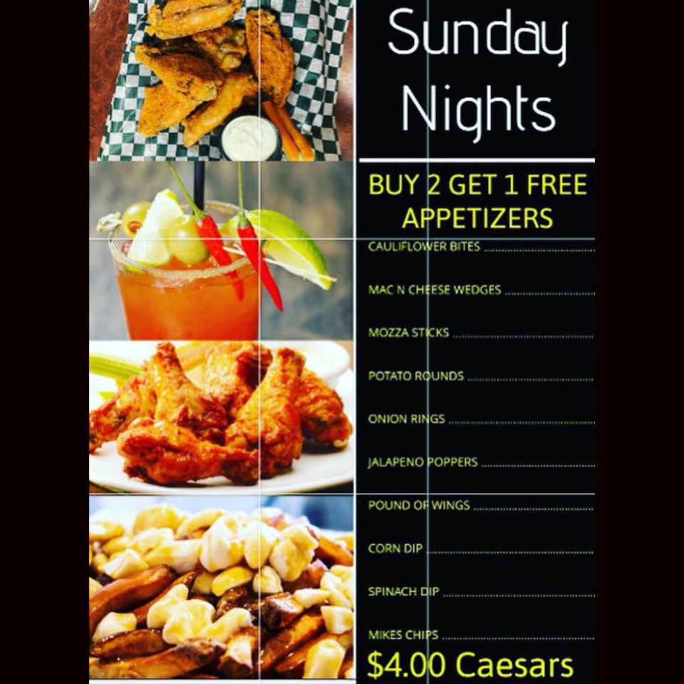 Mike's Bar & Grill Sunday Special
