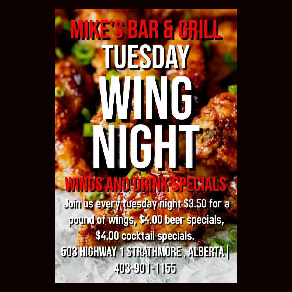 Mike's Bar & Grill Tuesday Special