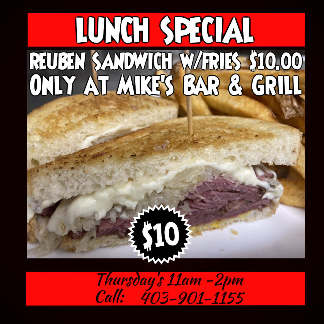 Mike's Bar & Grill Wednesday Special